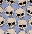 Skull seamless background Many skulls pattern vector image