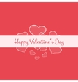 Valentines card with glowing hearts and white vector image
