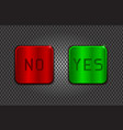 yes and no buttons on metal perforated background vector image