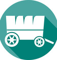 Wooden Cart Icon vector image vector image