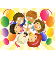 Kids in a party vector image vector image