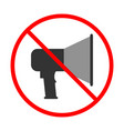 no noise sign and symbol prohibited icon vector image