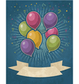Retro Party Balloons vector image vector image