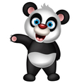 cute panda cartoon presenting vector image vector image