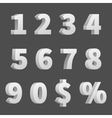 3D numbers and symbols Three-dimensional vector image