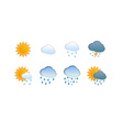 Weather Icon Set for Web Site vector image
