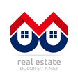 real estate buiding architecture housing icon vector image