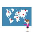 Businesswoman working vector image