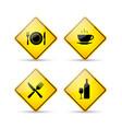 Restaurant road signs vector image