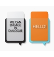 modern bubble speech set on white vector image vector image