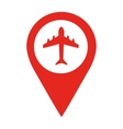 airport location pin isolated icon design vector image