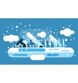 Abstract outdoor winter landscape vector image