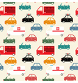 city car seamless pattern color vector image
