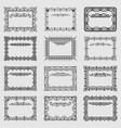 collection of square vintage frames vector image