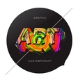 Contemporary Art abstract background vector image
