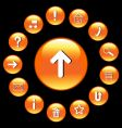 glossy buttons with symbols set vector image