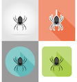 halloween flat icons 04 vector image