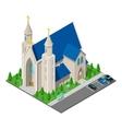 Isometric Christian Catholic Church Building vector image