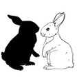 rabbit silhouette - vector image