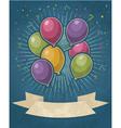 Retro Party Balloons vector image