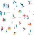 winter sport background vector image