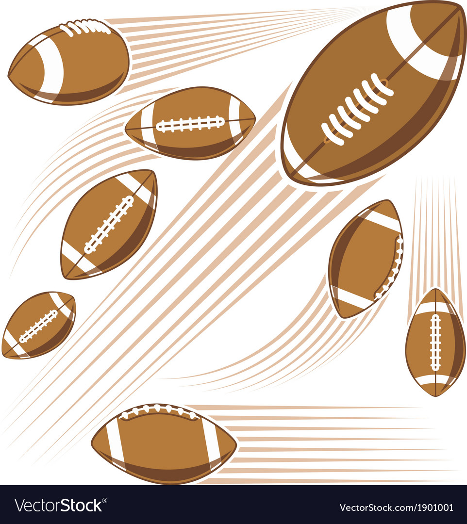 Flying american football ball vector