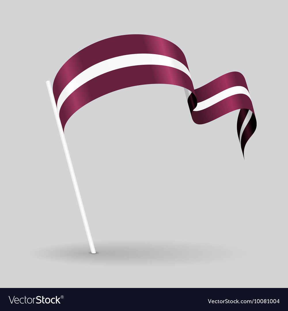 Latvian wavy flag vector
