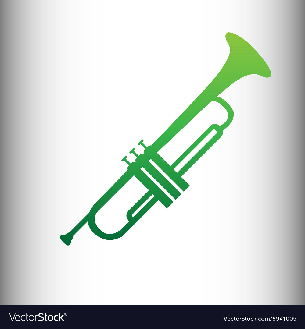 Trumpet icon music signal sign vector
