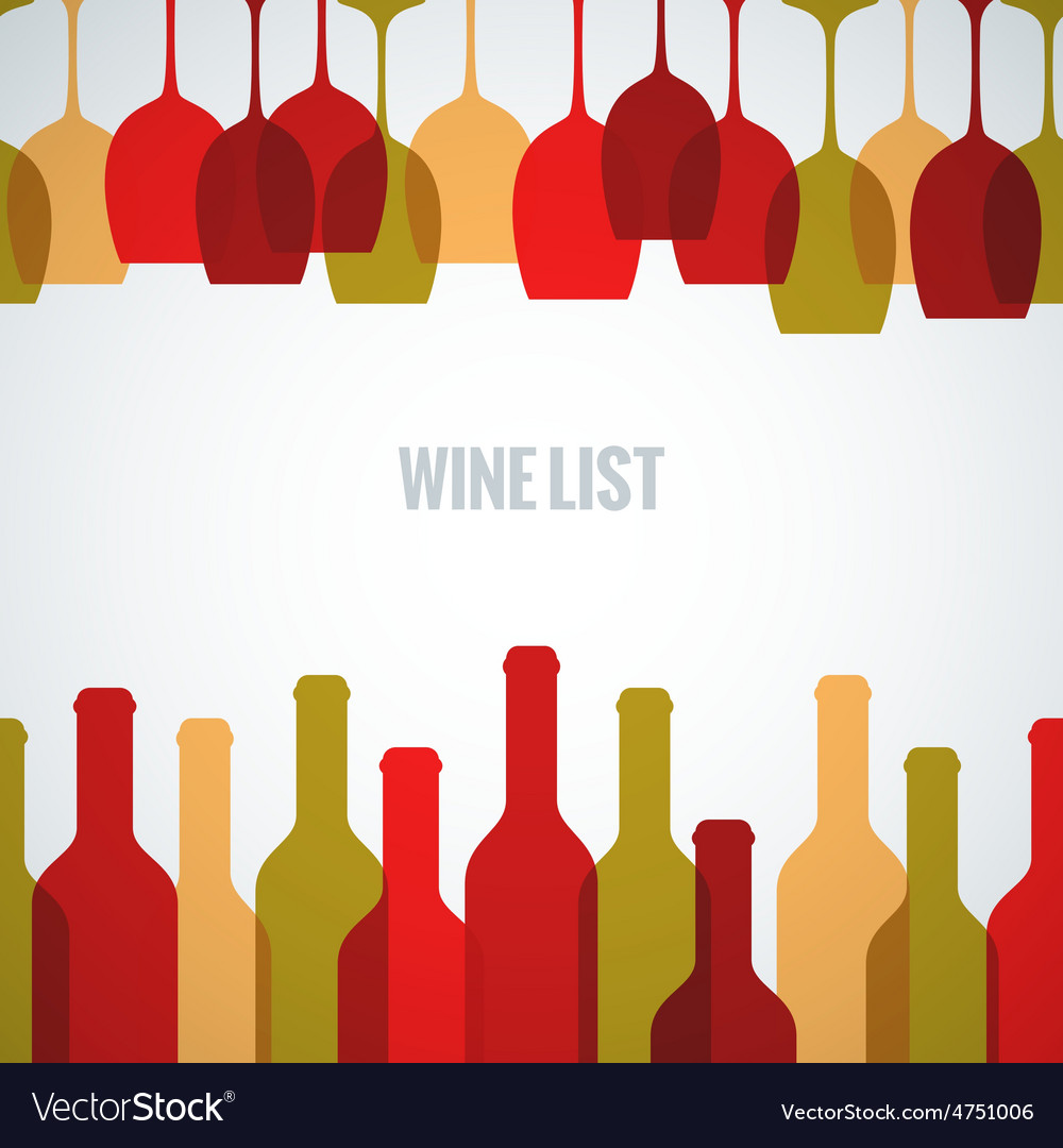 Wine glass bottle art background vector