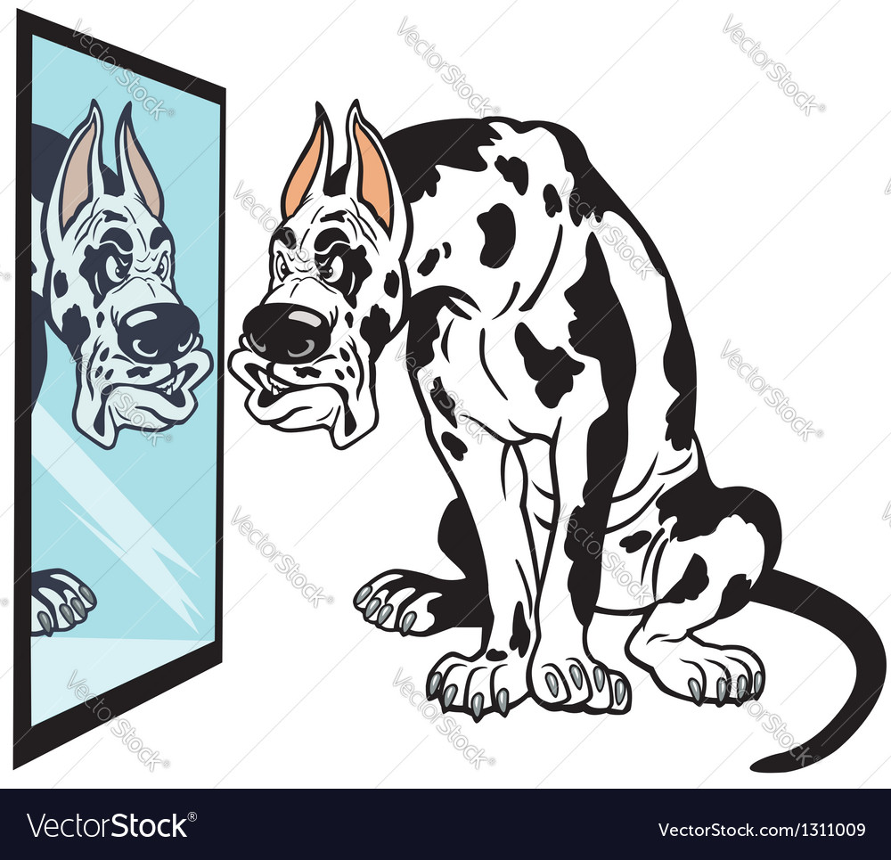 Cartoon great dane dog vector