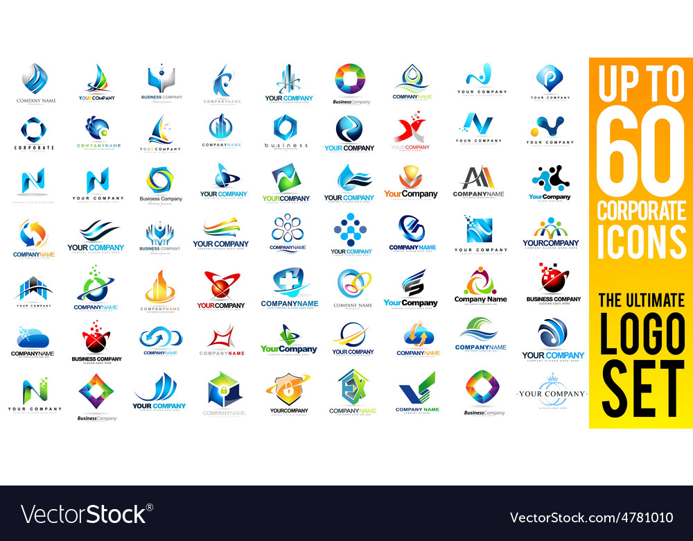 Business corporate logo set vector