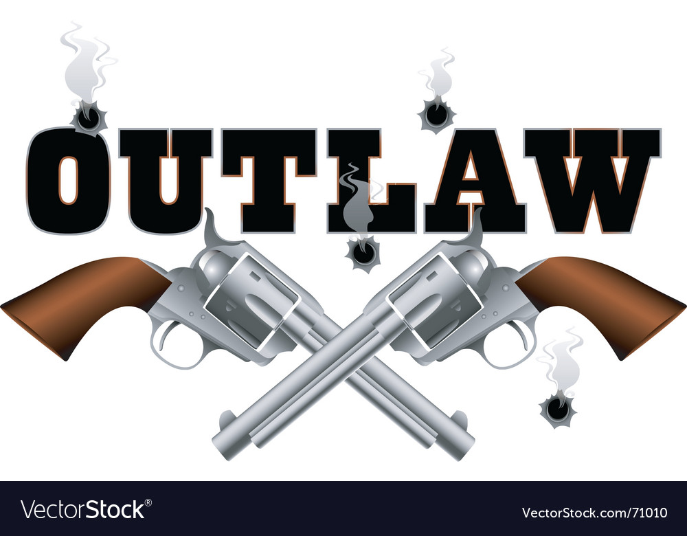 Outlaw background vector