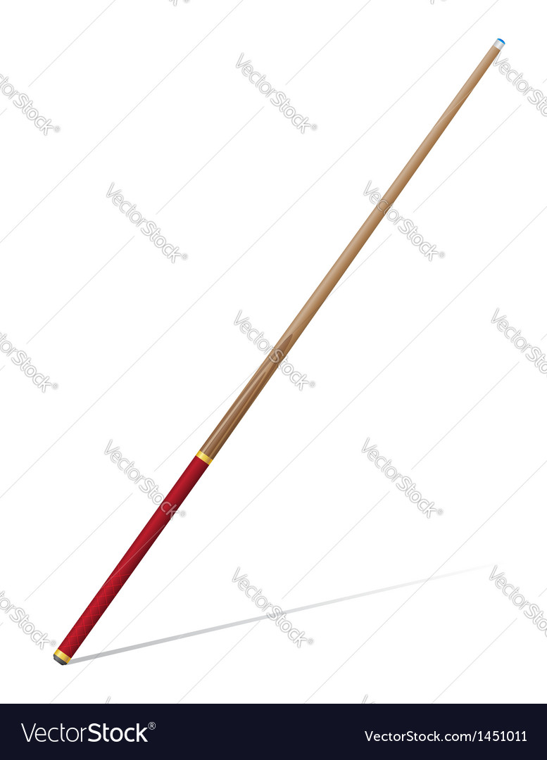Billiard cue vector