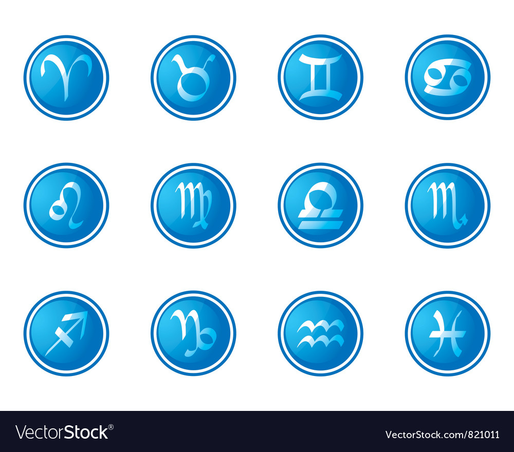 Horoscope zodiac signs vector