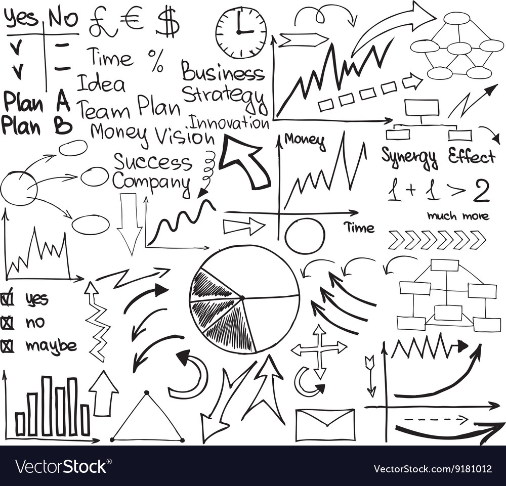 Business material set vector