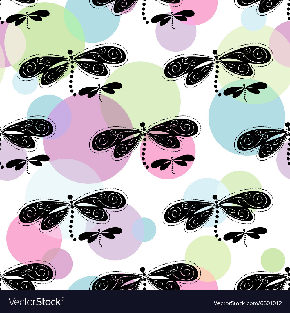 Seamless white spring pattern vector