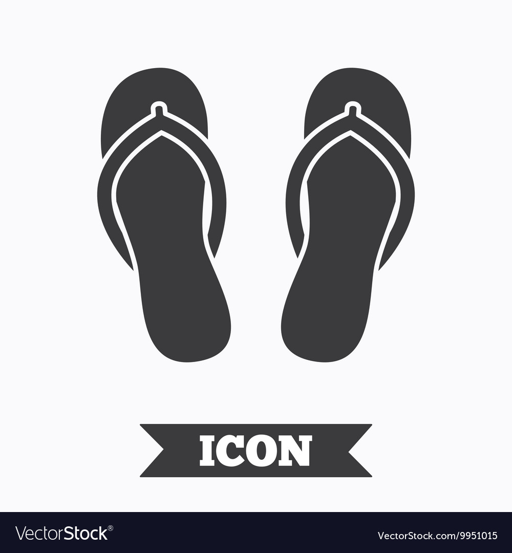 Flipflops sign icon beach shoes vector