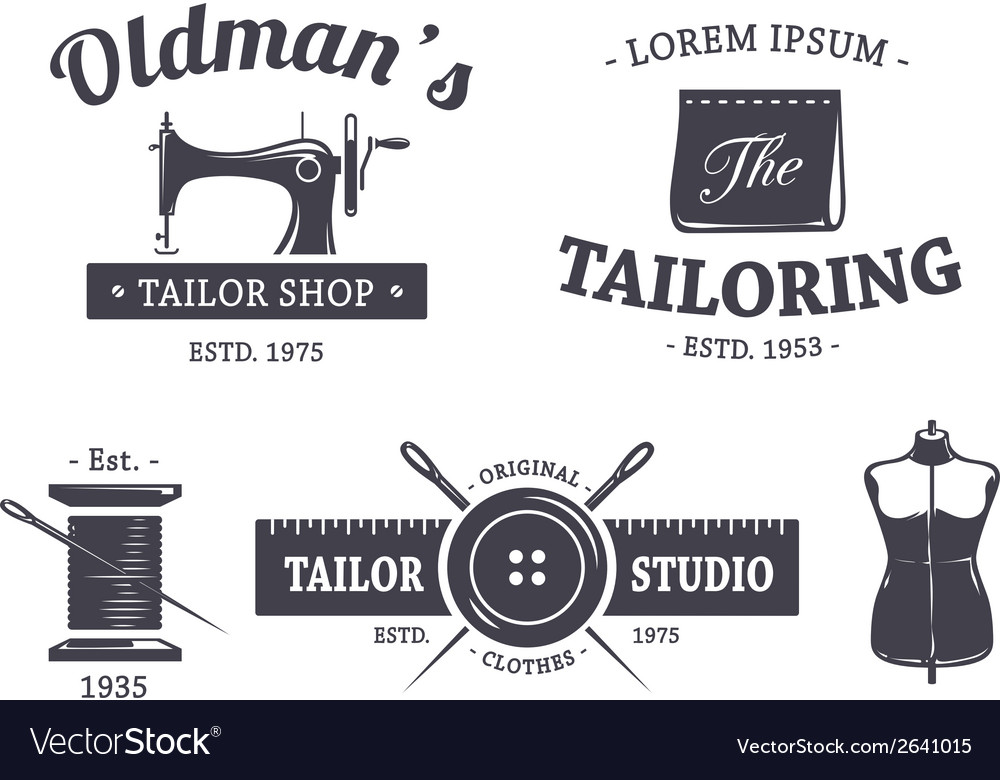 Tailor emblems 1 vector