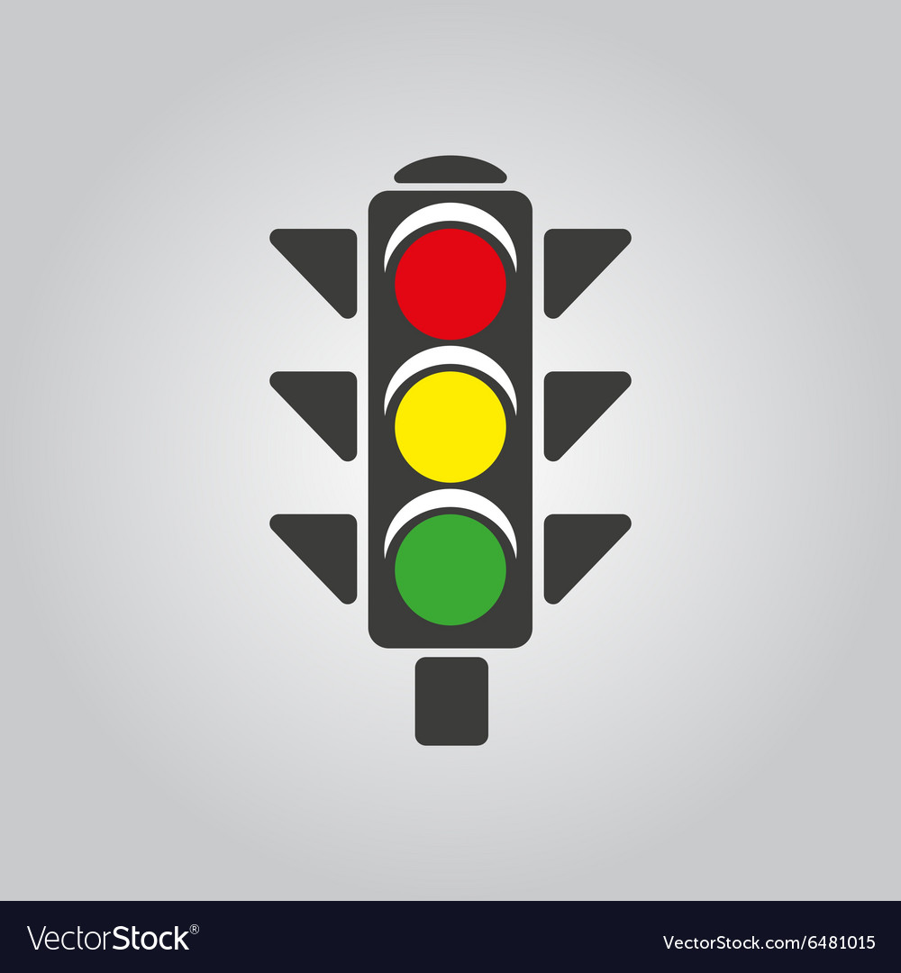 Traffic light icon stoplight and semaphore vector