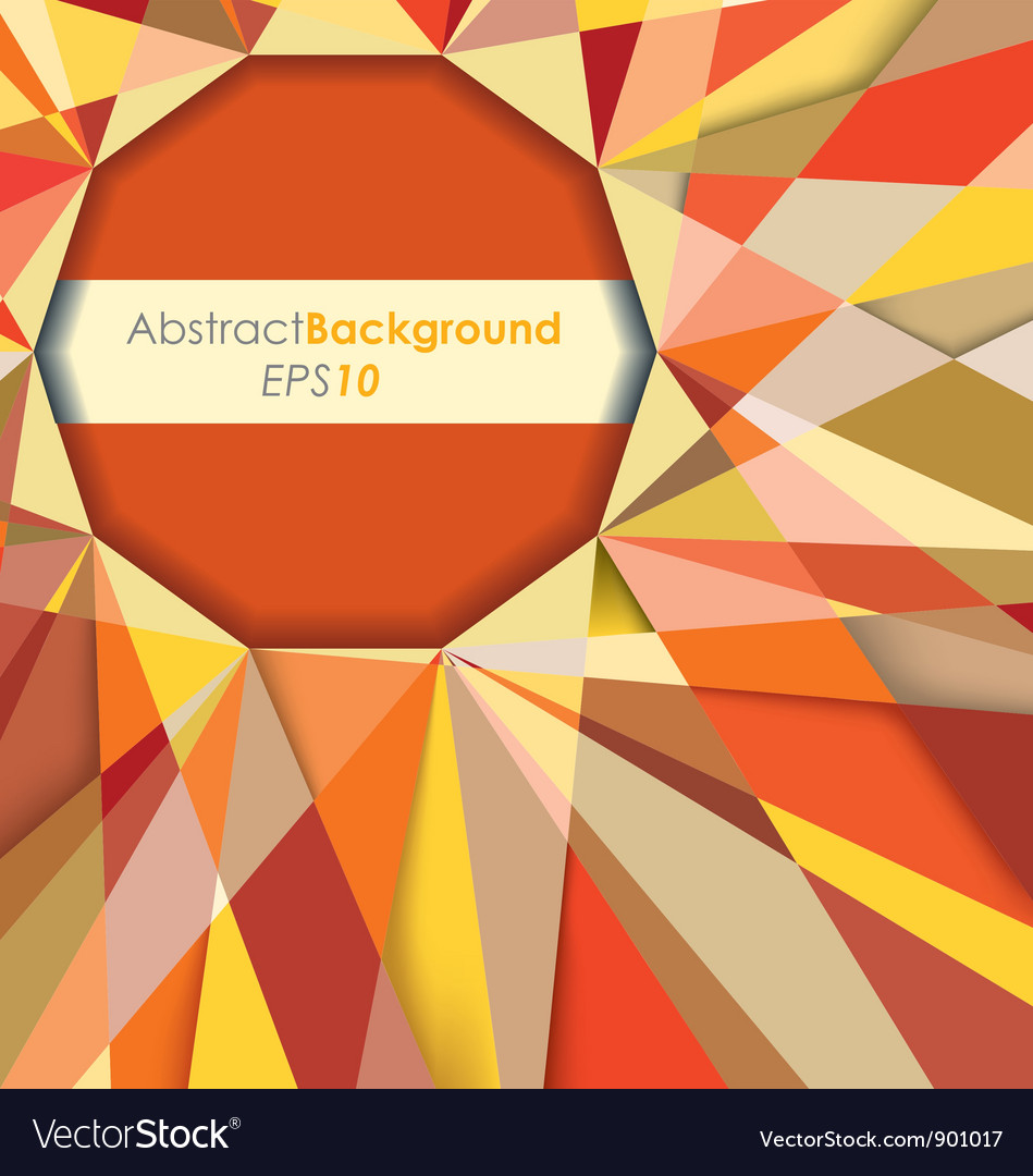 Sun fractal abstract background vector