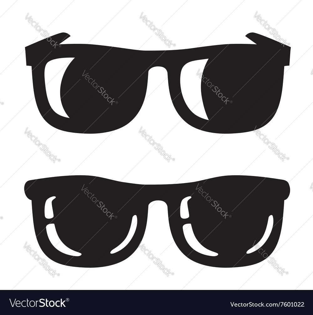 Black sunglasse icons vector
