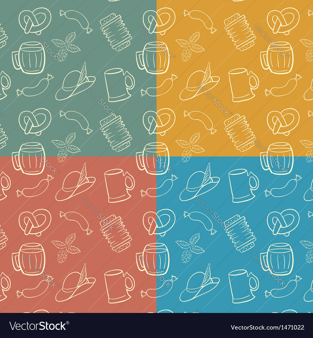 Colorful octoberfest seamless background vector