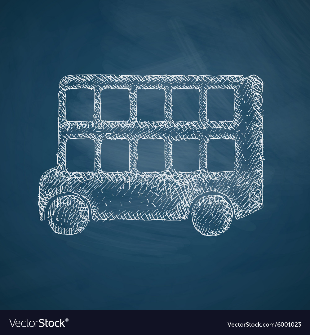 Bus double decker icon vector