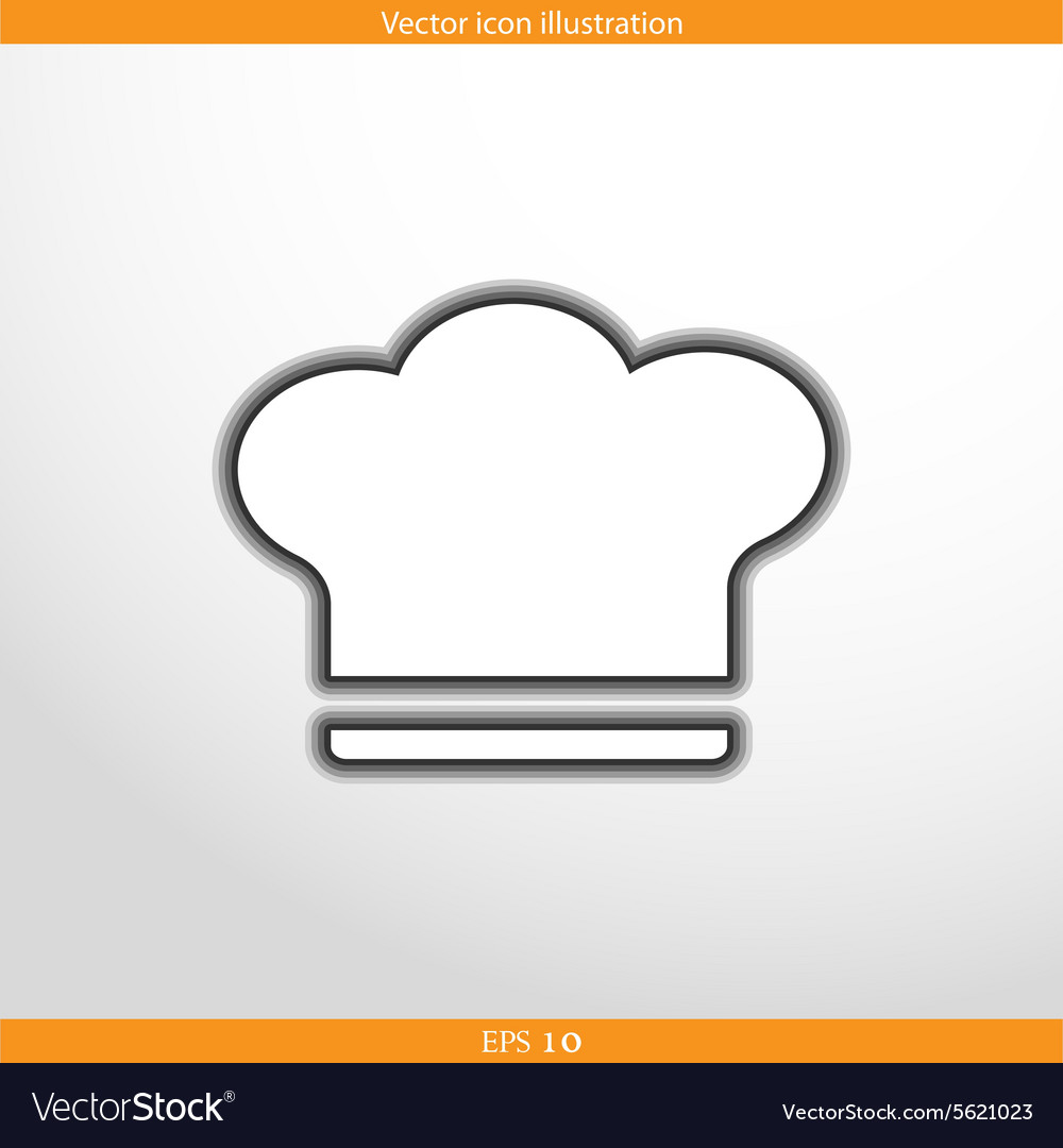 Cooking cap web icon vector