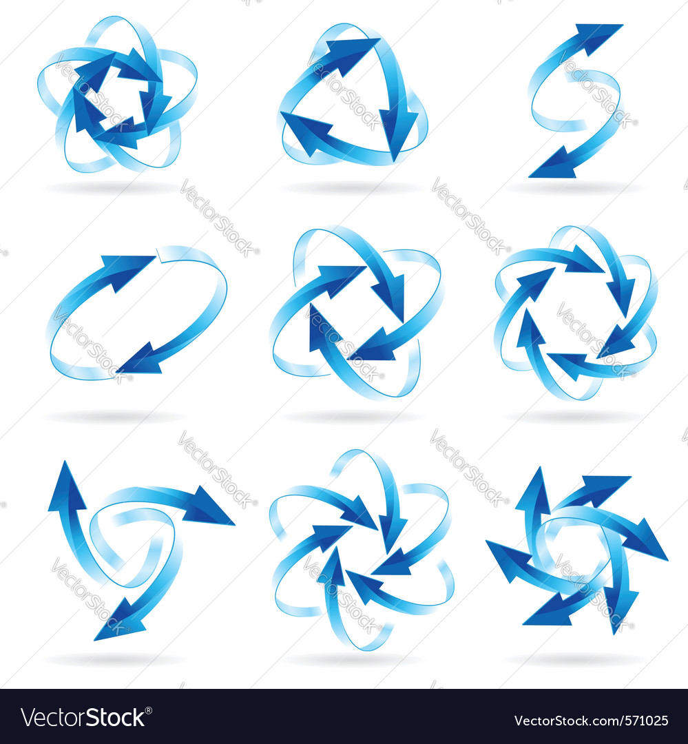 Arrow circles vector