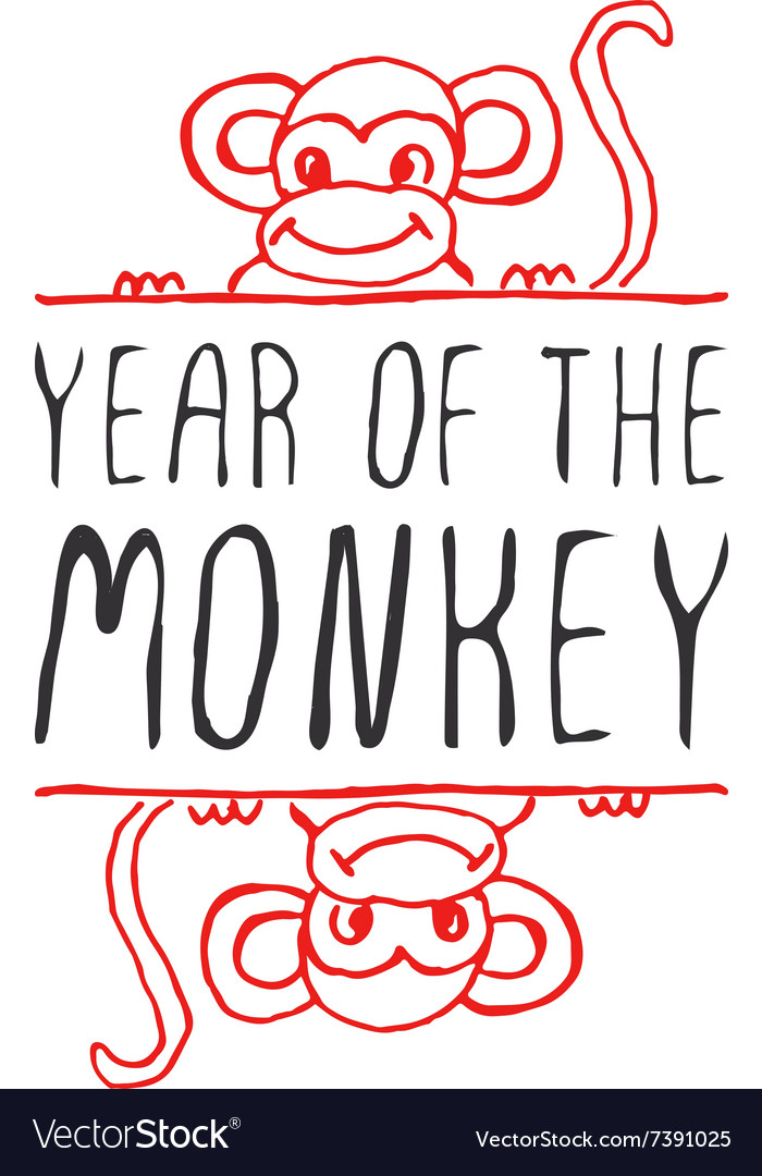 Chinese new year hand drawn greeting card vector