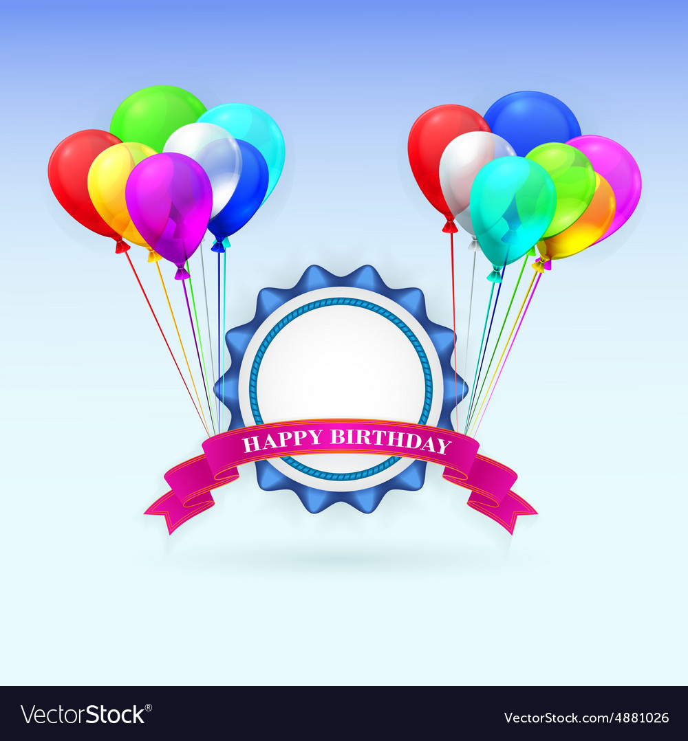 Happy birthday greeting card with vector