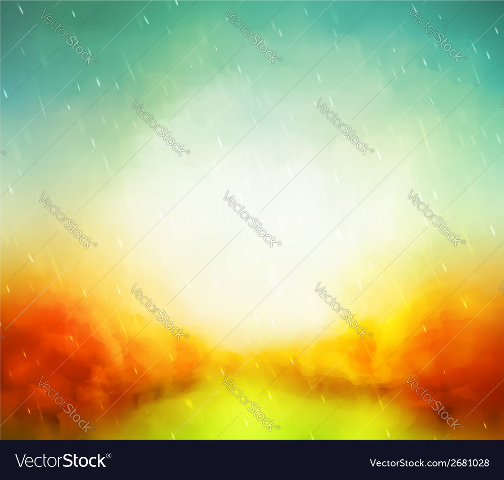Autumn watercolor vector