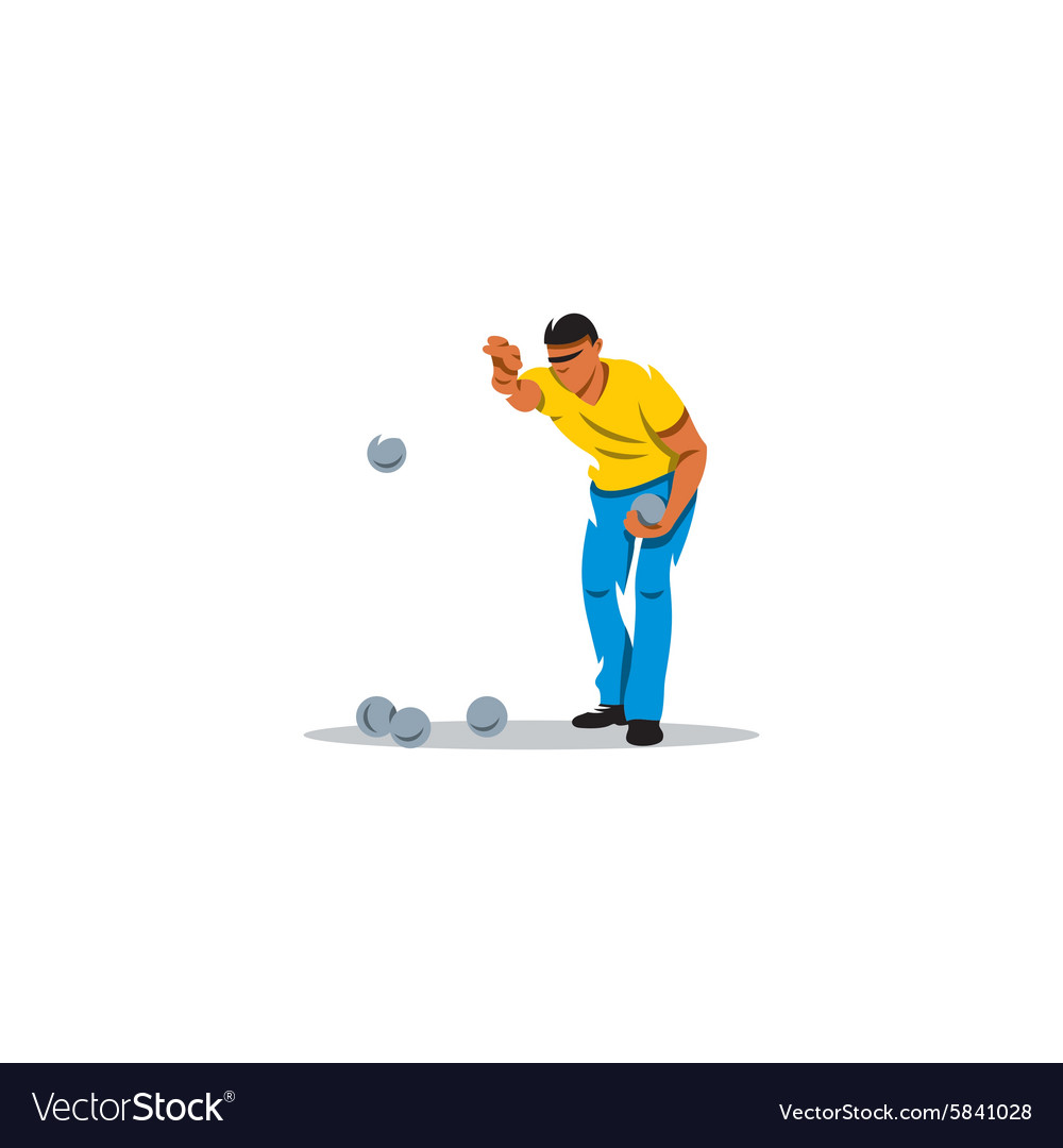 Petanque game sign vector