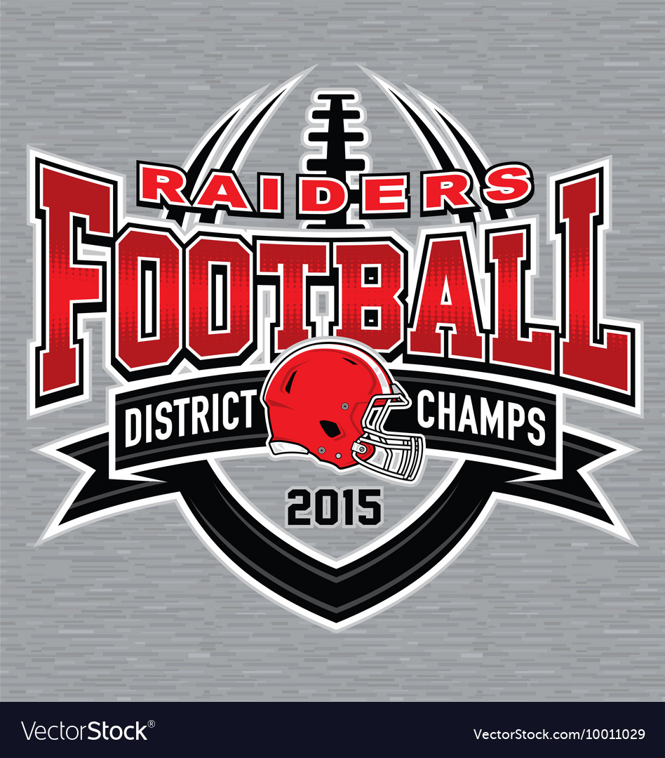 District champs football tshirt graphic vector